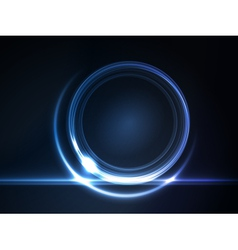 blue glowing round frame vector image vector image