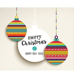 Christmas and new year fun color design bauble vector image vector image