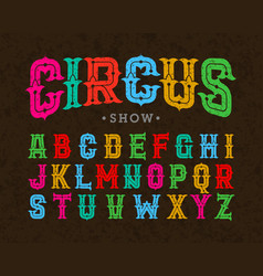 circus style vintage font vector image vector image