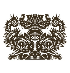 fish and bird papercut vector image