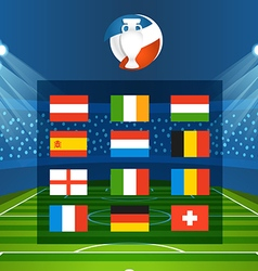 Light stadium mast Football infographic tem vector image