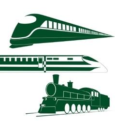 Railway transport vector image