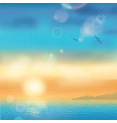 Sunset Seaside Background vector image vector image