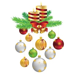 Decorative Christmas Candle4 vector image