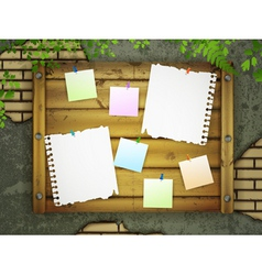 message board vector image vector image