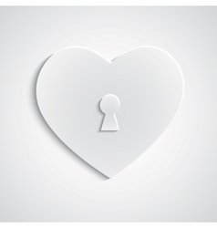 Paper heart with keyhole vector image vector image