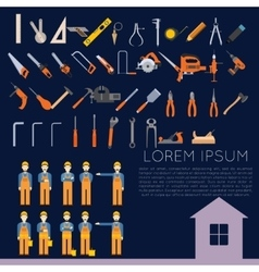 set of icons owith tools for repair vector image vector image
