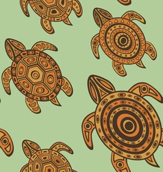 Turtles pattern vector image vector image