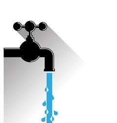 WaterPipeFlat vector image