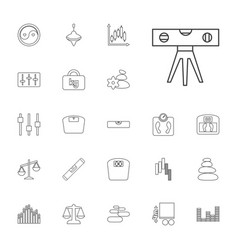 22 balance icons vector