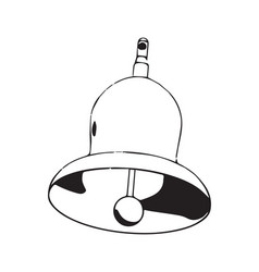 3d model of a bell on a white vector image