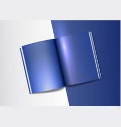 a4 book mockup template realistic light vector image