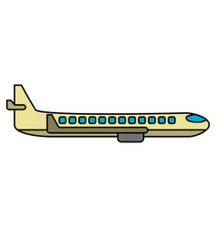 airplane transport flying image vector image