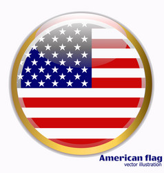 banner with flag of america vector image