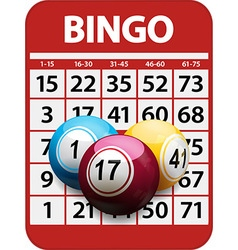 Bingo card and balls background vector