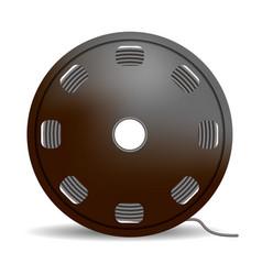 black wire coil icon realistic style vector image