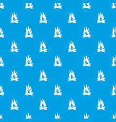 bonfire pattern seamless blue vector image