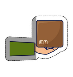 box packing delivery service vector image