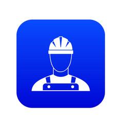 builder icon digital blue vector image