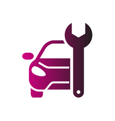 car repairing logo automotive and vector image