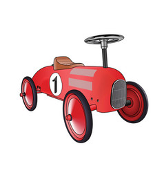Car toy red vector