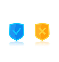 check marks and shields vector image