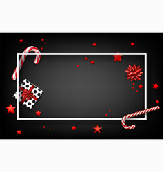 christmas background with gifts and candy vector image