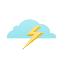 Cloud and Lightning Icon vector image