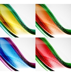 Collection of wave layouts vector image