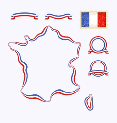 Colors of France vector image