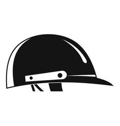 Cricket helmet logo simple style vector
