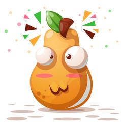 Cute pear - cartoon characters vector