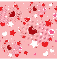 Cute Valentine seamless pattern vector image vector image