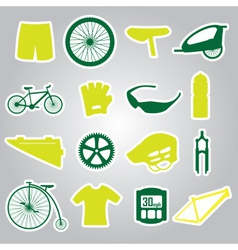 Cycling icon stickers eps10 vector