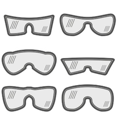 Different Ski Goggles vector image
