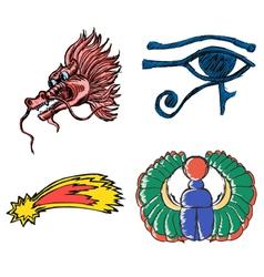 esoteric symbols vector image
