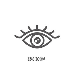 eye icon simple flat style vector image