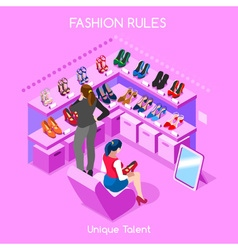 Fashion Moods 06 People Isometric vector