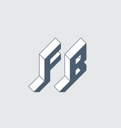 Fb - 2-letter code f and b - monogram or logotype vector