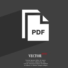 File PDF icon symbol Flat modern web design with vector