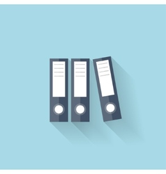 Flat web icon Documents paper folder vector