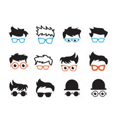 Geek nerd collection set graphic design template vector