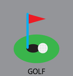 Golf sport icon vector image
