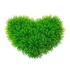 Grassy heart vector