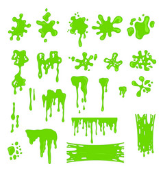 Green slime effects different types set vector