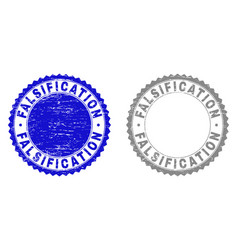 Grunge falsification textured stamp seals vector