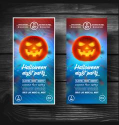 Halloween flyerleafletcoversbannersbrochure vector
