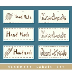 Handmade labels vector