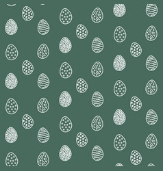 Happy easter eggs pattern vector