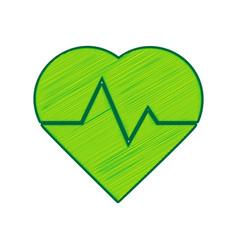 heartbeat sign lemon vector image